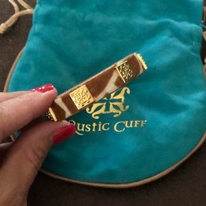Rustic Cuff Meagan Calfskin Giraffe Bracelet